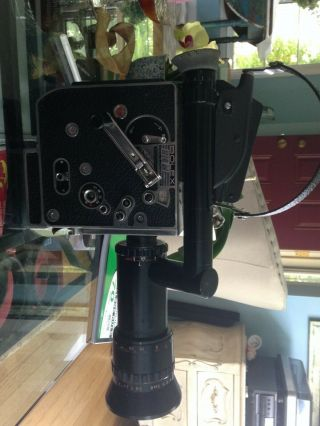 Bolex H16 M - 5 16mm Film Camera With Som Berthiot Paris Pan - Cinor Lens.