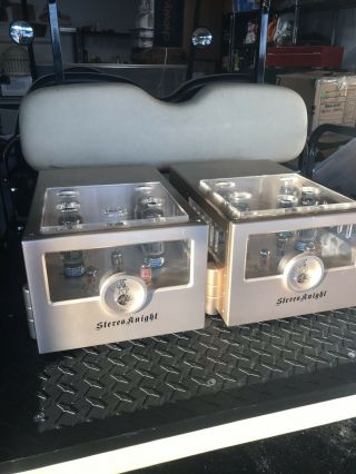 Twin Pair Stereoknight Stereo Knight Authur M75 Mono Block Tube Amplifier Amp