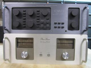 Phase Linear Model 700 Series Ii And Carver C4000 High Fidelity Control Console
