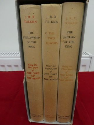 Lord Of The Rings Trilogy Tolkien 1st Edition,  Slip Case 1961 10th/8th/7th Vgc