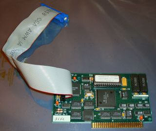 Rare Sequential Systems Ramfast Rev.  D Scsi 1mb Cache Card For Apple Ii 2 ][ //