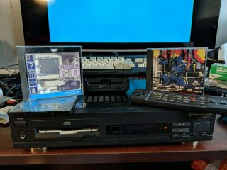Commodore Cdtv Cd - 1000 W/ Remote Keyboard And Amiga Cd1411 Floppy For Repair.