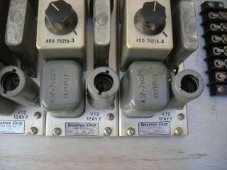 Westrex (Western Electric) RA - 1474a tube preamps (4) 1951 PRICE LOWERED 7