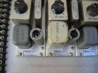 Westrex (Western Electric) RA - 1474a tube preamps (4) 1951 PRICE LOWERED 8