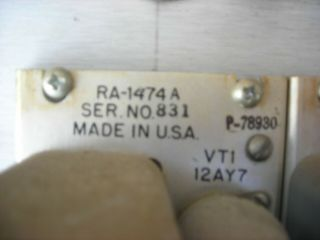 Westrex (Western Electric) RA - 1474a tube preamps (4) 1951 PRICE LOWERED 9