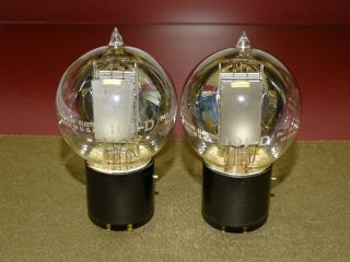 Pair,  Western Electric 101d Tennis Ball Radio/audio Tubes,  Strong On Amplitrex