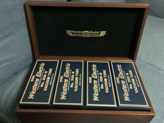 Match 4 Tube Western Electric We 300b In Wood Box 2007 Nos