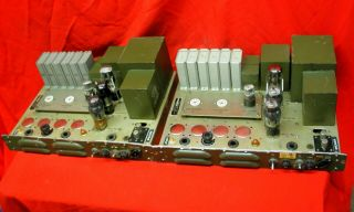Us Signal Corps Western Electric 6l6 6sl7 Tube 115 - 230v Power Amplifiers [pair]