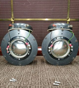 Pair 1954 Altec Lansing 288c Horn Drivers Perfect Diaphragms Audiophile