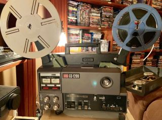 Elmo Gs - 1200 8 Stereo Sound Projector - Mag/optical - With Scope Lens