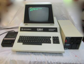 Commodore Cbm 2001 Series Professional Computer Msd Disk Drive &datassette