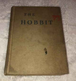 1938 The Hobbit Jrr Tolkien First American Edition 3rd Print