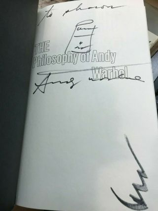 The Philosophy Of Andy Warhol - Signed/inscribed By Andy Warhol First Edition