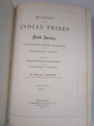 History of Indian Tribes of North America Vol.  1 & 2 1872 Thomas McKenney 3