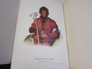 History of Indian Tribes of North America Vol.  1 & 2 1872 Thomas McKenney 5