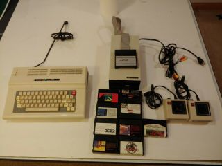 Tandy Color Computer 3 128k W/ Fd502 Floppy Drive,  Joysticks,  And Games