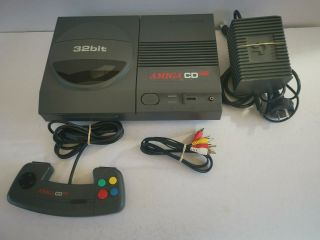 Amiga Cd32,  Controller & All Cords And Cables - And