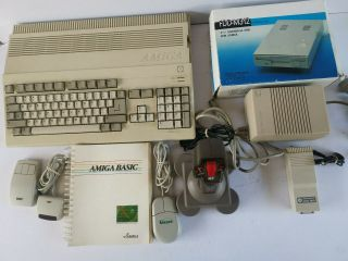 Complete Commodore Amiga 500 System / Setup - Disk Drive - Mouse - Joystick -,  Games