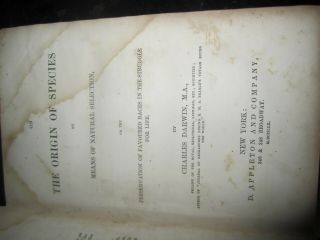 Origin of the Species FIRST edition FIRST printing Charles Darwin 1860 Appleton 7