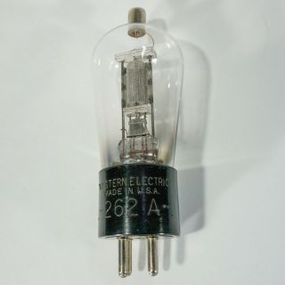 Western Electric 262 - A Audio Tube - Early Engraved Base Tests Strong At 58/37