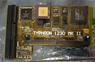 Amiga A1200 Typhoon 1230 Mkii Accelerator Card - 40 Mhz 68882/68030 W/ Simm Chip
