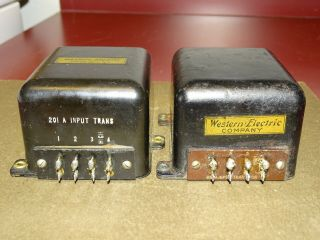 Pair,  Western Electric 201a Input Transformers,  1920s,  For Tube Amplifier