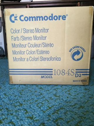 Commodore Color Monitor 1084S - D2,  Power Cable,  Monitor Cable 6