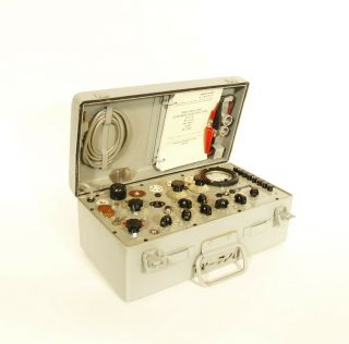 Outstanding TV - 7 Military Tube Tester Serviced & Calibrated by Dan Nelson 2/2019 2