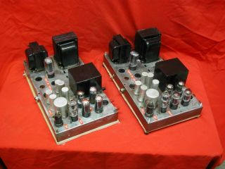 Capehart M - 2am Western Electric 6v6 Power Amplifiers [working Pair]