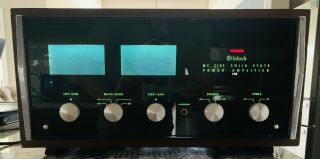 Mcintosh Mc2105 Solid State Amp,  Flawlessly And Sounds