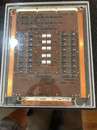 Cray - 1 Supercomputer Memory Board Tony Cole 342/400