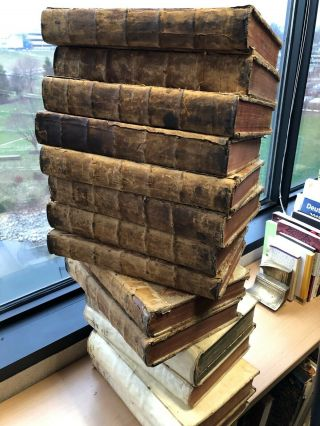 Martin Luther 15 Large Folio Volumes Of The Leipzig Edition Ca 1730