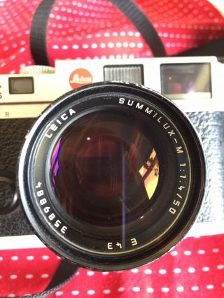 Leica M6 Rangefinder With Lens And Case 3