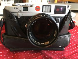 Leica M6 Rangefinder With Lens And Case 6