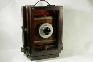 8x10 Eastman View Camera No.  2 - D With Two Backs And Two Film Holders And Lens