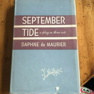 September Tide By Daphne Du Maurier Actress Gertrude Lawrence Library