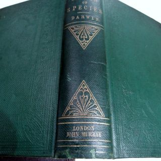 CHARLES DARWIN ORIGIN OF SPECIES/1861/3rd Ed.  with ADDITIONS & CORRECTIONS $10K, 10