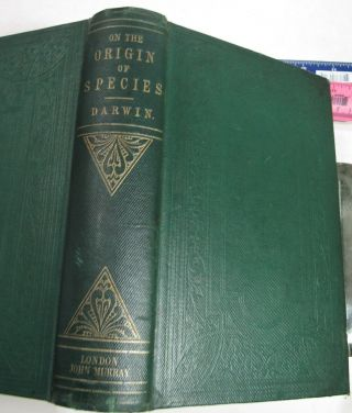 CHARLES DARWIN ORIGIN OF SPECIES/1861/3rd Ed.  with ADDITIONS & CORRECTIONS $10K, 5