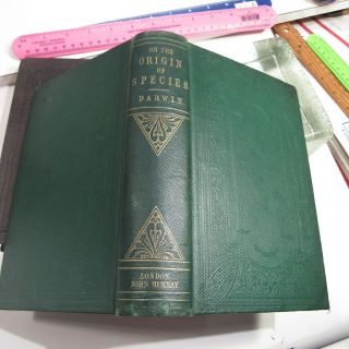 CHARLES DARWIN ORIGIN OF SPECIES/1861/3rd Ed.  with ADDITIONS & CORRECTIONS $10K, 7