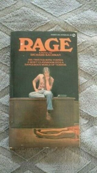 Rage By Richard Bachman 1977 1st Edition Stephen King