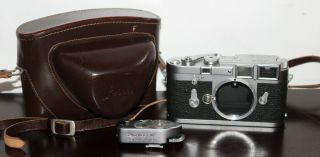 Leica M3 Early Double Stroke Rangefinder Camera Body With Case