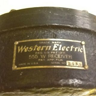 WESTERN ELECTRIC 555 W RECEIVER FROM 1920 ' S VITAPHONE INSTALLATION 6