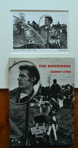 Danny Lyon Signed 1966 Bikeriders Cover Photograph W/1st Edition Book