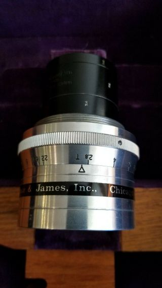 """Taylor Taylor & Hobson 4 """" Panchrotal Anastigmat Cine Zoom Lens With Housing"""