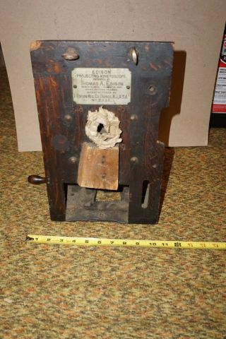Early Thomas Edison Projecting Kinetoscope Projector,  Mfg Orange,  Nj 1897