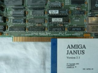 Amiga A2386sx Bridge Board And Janus Software