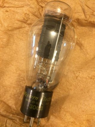 Western Electric 300b Triode Vacuum Tube 1952 Tv - 7 Very Strong