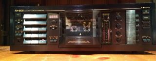 Nakamichi Rx - 505,  3 Head Cassette Deck,  Serviced,  Upgraded,  Nichicon Muse Caps.