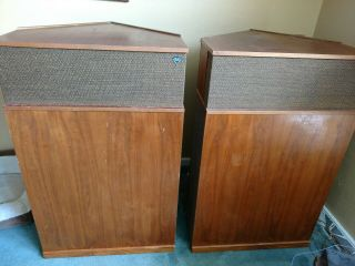 Klipsch Klipschorn Corner - Horn Speakers,  Pair,  Back Covers,