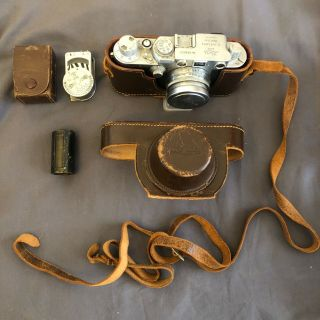 Leica Iiif With Summitar Collapsible 50mm F2 And Light Meter